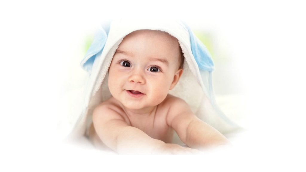 bébé avec fond perdu