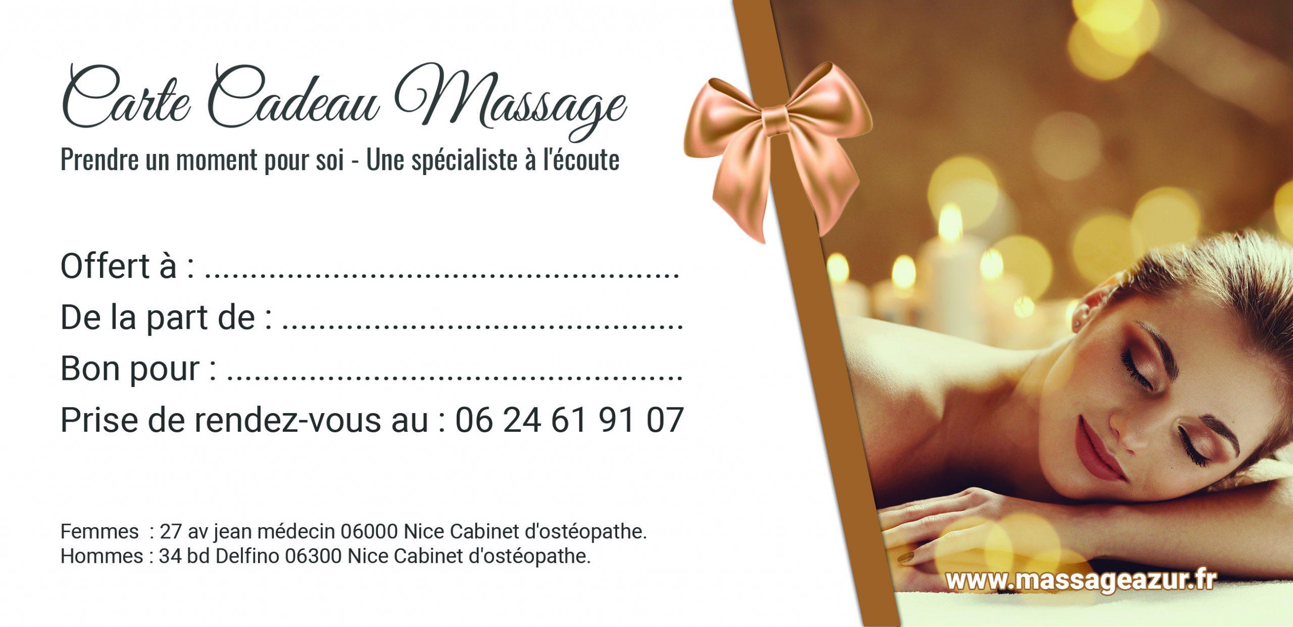Carte Cadeau Massage Femme Enceinte Nice 06000